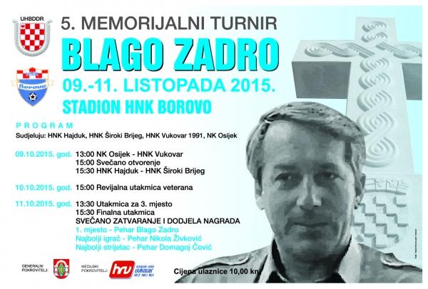 5. memorijalni turnir Blago Zadro